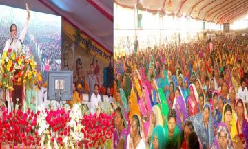 शिवराज सिंह चौहान ने सागर जिले के गढ़ाकोटा में रहस महोत्सव को सम्बोधित किया।